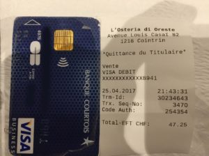 Conversion fees with Banque Courtois